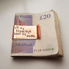 Stamped with Love - All my Blessings Money Clip, handmade in Hampshire, UK