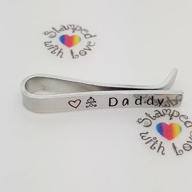 Stamped with Love - Daddy Tie Clip, handmade in Hampshire, UK