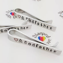 Stamped with Love - Godfather Tie Clip, handmade in Hampshire, UK
