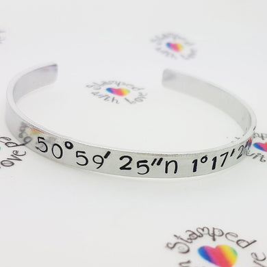 Coordinates Bracelet - Stamped with Love
