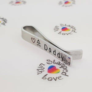 Daddy Tie Clip - Stamped with Love