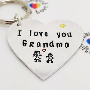 I love you Keyring - Stamped with Love