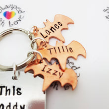 Stamped with Love - Bat Keyring - Copper, handmade in Hampshire, UK