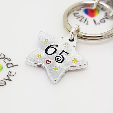 Stamped with Love - Numbered Star - Aluminium, handmade in Hampshire, UK