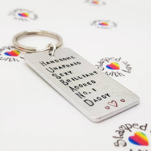 Stamped with Love - Husband Keyring, handmade in Hampshire, UK