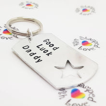 Stamped with Love - Good Luck Keyring, handmade in Hampshire, UK