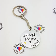 Stamped with Love - Awesome Boobies Keyring, handmade in Hampshire, UK