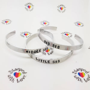 Stamped with Love - Sister Bracelets, handmade in Hampshire, UK