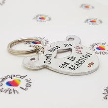 Stamped with Love - BEARDiful Keyring, handmade in Hampshire, UK