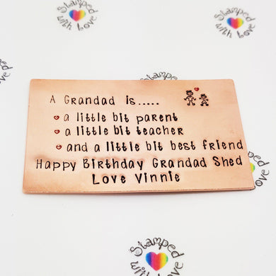 Stamped with Love - A Grandad Is..., handmade in Hampshire, UK