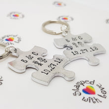 Stamped with Love - His and Hers Jigsaw Pieces, handmade in Hampshire, UK