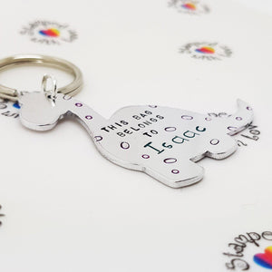 Dinosaur Keyring - Stamped with Love