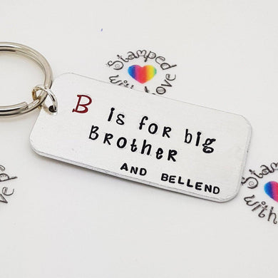 Stamped with Love - B is for Brother, handmade in Hampshire, UK