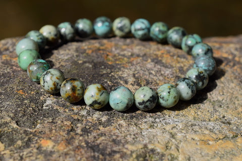 Natural African turquoise beads bracelets