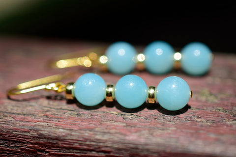 handmade Amazonite beads earrings
