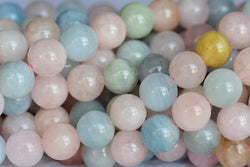 Morganite - Round- beads supplier
