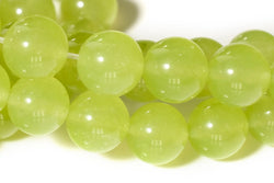 "15"" 6mm/8mm/10mm/12mm Light yellow green Malaysian jade Round beads gemstone"