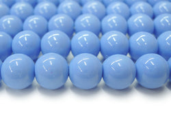 "15.5"" Glass druk round beads angelite blue 6mm/8mm/10mm/12mm"