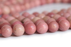 "15.5"" natural Rhodonite 4mm/6mm round beads, red semi-precious stone,rhodonite jasper - GemWholesales"