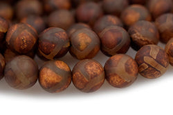 "14.5"" Antique Brown Bulk tibetan Dzi agate round beads 8mm/10mm/12mm"