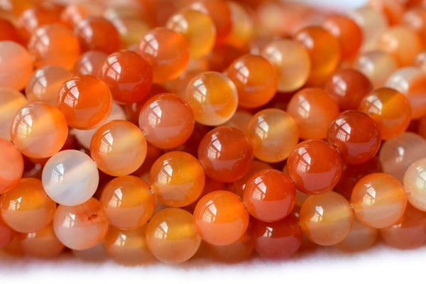 "15"" Carnelian round beads 4mm/6mm/8mm/10mm,Red agate gemstone, semi-precious stone"