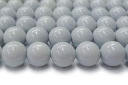 "15.5"" Glass druk round beads grey 6mm/8mm/10mm/12mm"