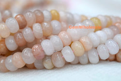 8x12mm light pink aventurine roundel faceted beads