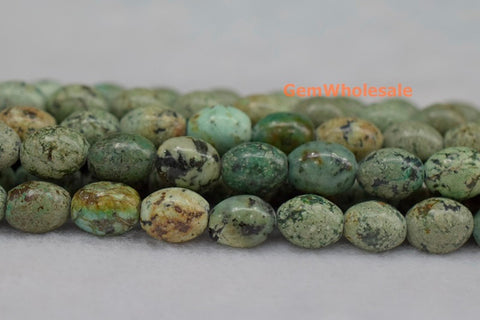 8x10mm African turquoise olive beads