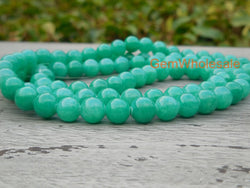 Dyed green jade 6mm/8mm/10mm/12mm round beads