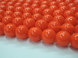 Glass druk round beads orange 6mm/8mm/10mm/12mm