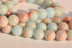 "15.5"" Light Blue emperor jasper round beads 6mm/8mm/10mm, Sea Sediment stone XYB01 - Gemstone jewelry beads supplier"
