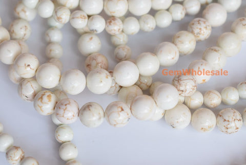 Howlite - Round- beads supplier