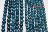 "15.5"" 6mm/8mm natural apatite stone round beads,dark blue gemstone beads - Gemstone jewelry beads supplier"