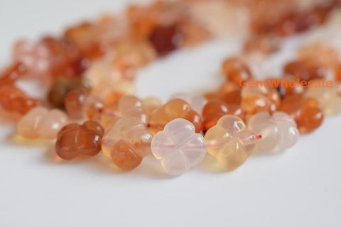Carnelian - flower- beads supplier
