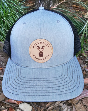 Hillbilly Endurance Trucker Cap - Premium Leather Patch - HillBilly Endurance