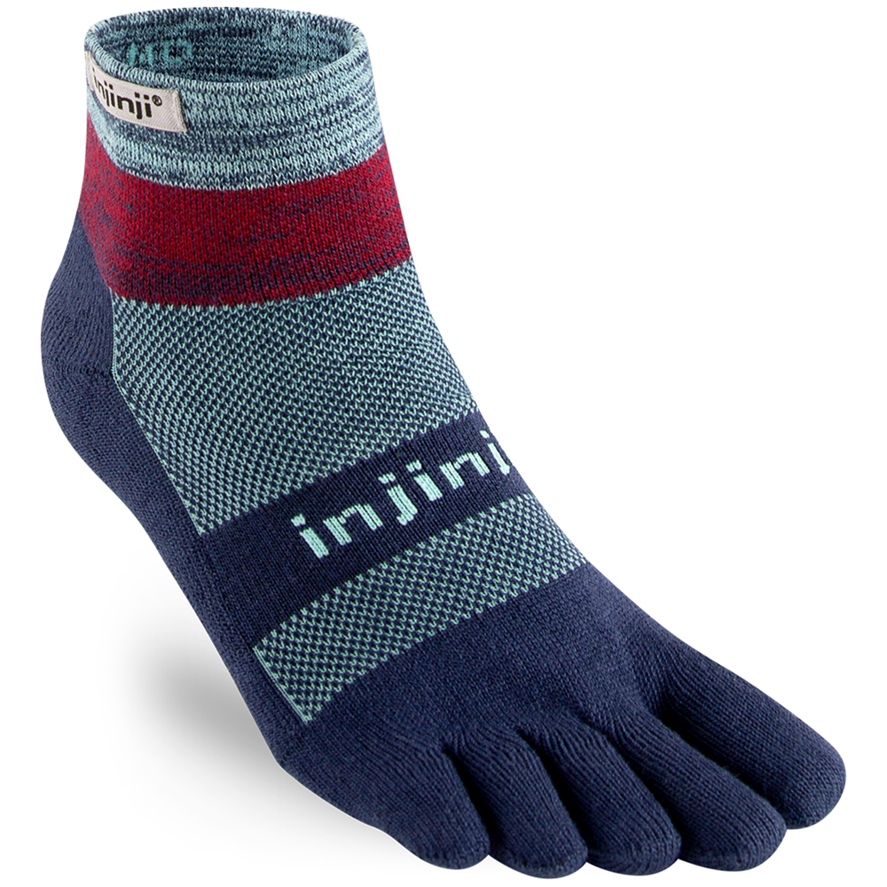 Injinji Toe socks trail midnight mini crew mint berry
