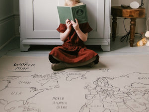How To Add a World Map To Your Child's Room