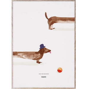 Doug the Dachshund Print 50x70 by MADO - minifili