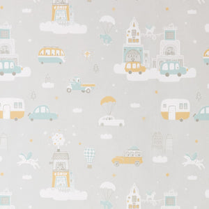 Above the Clouds Wallpaper Soft Grey by Majvillan - minifili