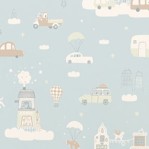 Above the Clouds Wallpaper Soft Blue by Majvillan - minifili