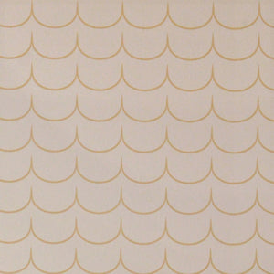 Drop Curtain Wallpaper Greige Golden Brown by Majvillan - minifili