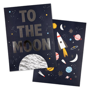 Space Prints (set of 2) by Meri Meri - minifili