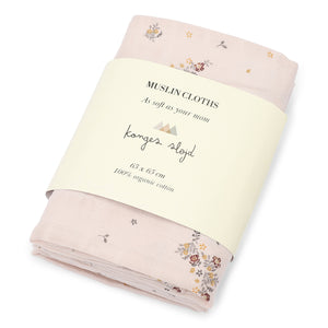 Muslin Cloth Nostalgie Blush (set of 3) by Konges Slojd - minifili