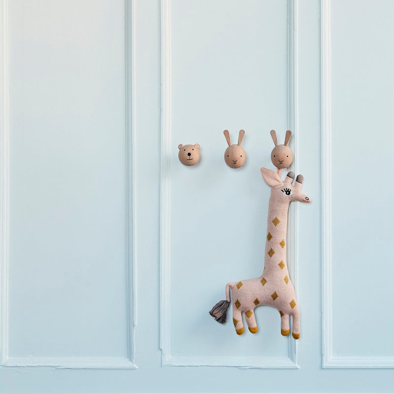 Rabbit Wooden Hook by OYOY Mini - minifili