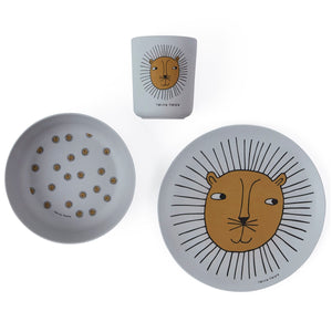 Lion Bamboo Tableware Set by OYOY Mini - minifili