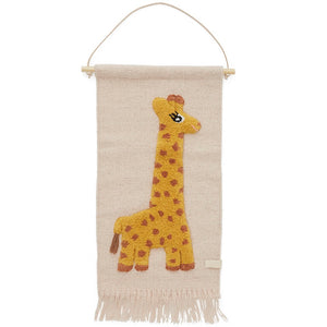 Giraffe Wall Hanging by OYOY Mini - minifili