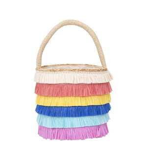 Raffia Fringed Straw Bag by Meri Meri - minifili
