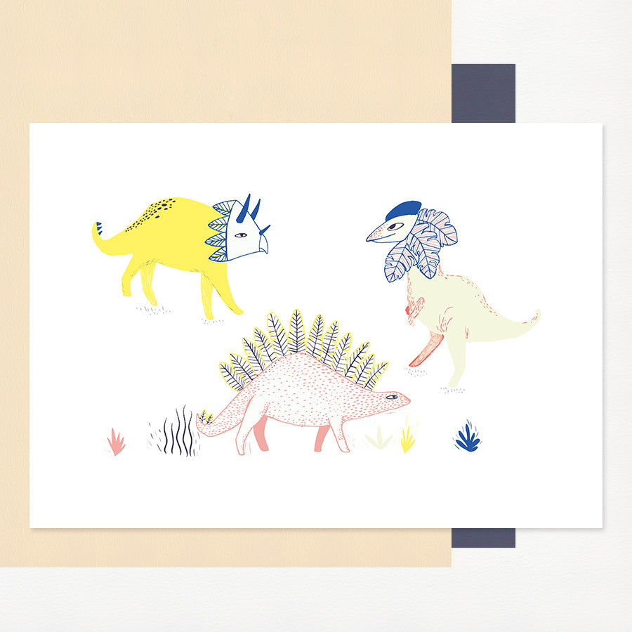 Dinosaurs Print by Charlotte Janvier - minifili
