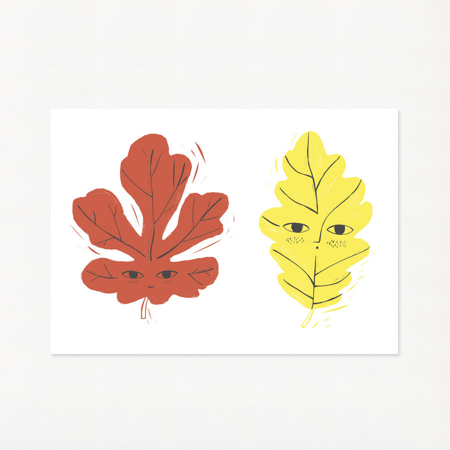 Charlotte Janvier - Happy Leaves Print