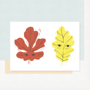 Happy Leaves Print by Charlotte Janvier - minifili